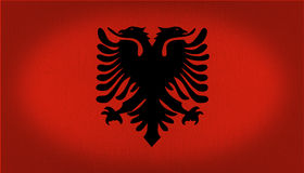Albania flaga Obraz Royalty Free