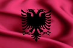 Albania flaga ilustracja royalty ilustracja