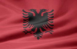 albania flagga vektor illustrationer