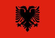 albania flagga Fotografering för Bildbyråer