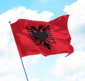 albania flagga Royaltyfria Foton