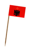 albania flagga Arkivbild