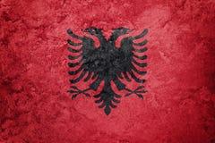 albania flagi crunch Albania flaga z grunge teksturą Obrazy Stock