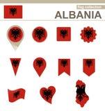Albania flagi kolekcja royalty ilustracja