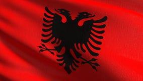 Albania flagi państowowej dmuchanie w wiatrze Oficjalny patriotyczny abstrakcjonistyczny projekt 3D renderingu ilustracja falowan ilustracja wektor