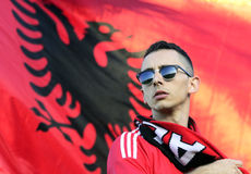 Albania football fan Stock Image