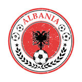 Albania football label / sticker Stock Photo