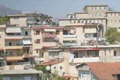 Albania, Gjirokaster, Residential Buildings Stock Images