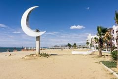 Albania. Sandy beach in the resort Golem Stock Images