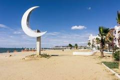 Albania. Sandy beach in the resort Golem Stock Images