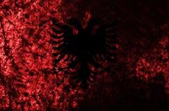 Albania grunge flaga na starym brudzi ścianę Obraz Royalty Free