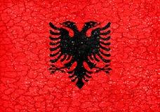 Albania Grunge stylu flaga państowowa Zdjęcia Royalty Free