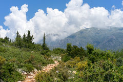 Albania, hike to Gjipe beach. Part of the trails leading to Gjipe beach Royalty Free Stock Photography