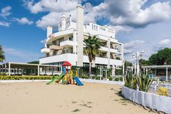 Albania. Hotel in the resort place Golem Royalty Free Stock Photos