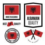Albania ilości etykietka ustawiająca dla towarów Zdjęcia Stock