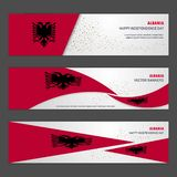 Albania independence day abstract background design banner and f. Lyer, postcard, landscape, celebration vector illustration - This Vector EPS 10 illustration is stock illustration