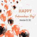 Albania Independence Day Greeting Card. Stock Images