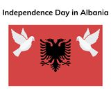 Albania Independence Day Patriotic Design. vector illustration