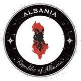 Albania kółkowa patriotyczna odznaka Zdjęcie Royalty Free