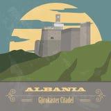 Albania landmarks. Retro styled image Royalty Free Stock Photos