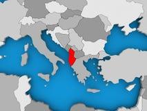 albania mapa Obraz Stock