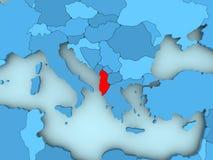 albania mapa Zdjęcia Stock