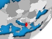 albania mapa Fotografia Royalty Free