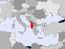 albania mapa royalty ilustracja