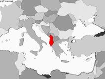 albania mapa ilustracji