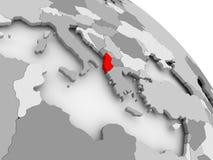 albania mapa Zdjęcie Royalty Free