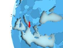 albania mapa Obrazy Royalty Free