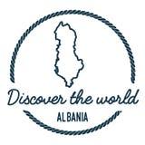 Albania mapy kontur Rocznik Odkrywa świat Zdjęcia Royalty Free