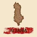 Albania martwił mapę Obrazy Stock