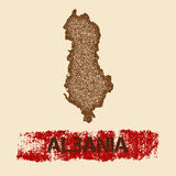 Albania martwił mapę Fotografia Stock