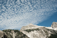 Albania mountain cloudscape. Prokletije teeth stock images