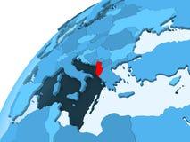 Albania na błękitnej kuli ziemskiej ilustracji