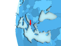 Albania na błękitnej kuli ziemskiej Obrazy Stock