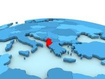 Albania na błękitnej kuli ziemskiej Fotografia Stock