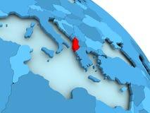 Albania na błękitnej kuli ziemskiej Obrazy Royalty Free