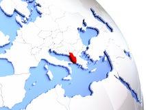 Albania na eleganckiej kuli ziemskiej Fotografia Stock