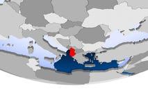 Albania na kuli ziemskiej ilustracji