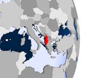 Albania na kuli ziemskiej ilustracja wektor