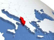 Albania na kuli ziemskiej Fotografia Royalty Free