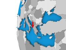 Albania na kuli ziemskiej Obrazy Royalty Free