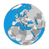 Albania na kuli ziemskiej Obrazy Stock