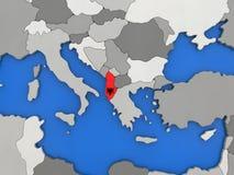 Albania na kuli ziemskiej Zdjęcie Stock