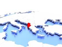 Albania na kuli ziemskiej Zdjęcie Royalty Free