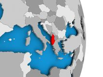 Albania na kuli ziemskiej Zdjęcia Royalty Free