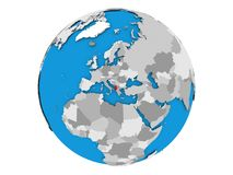 Albania na kuli ziemskiej odizolowywającej Obraz Stock