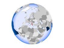 Albania na kuli ziemskiej odizolowywającej ilustracji